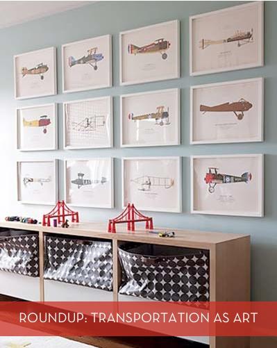 Planes, trains, & automobile art!