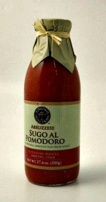 """Sugo al Pomodoro, Red Pasta Sauce RTR-020Classic """"red sauce"""" made in small batches in Abruzzo. Fresh tomatoes, oregano, garden vegetables, and extra virgin olive oil make for elegant simplicity at its finest.$7.75"""