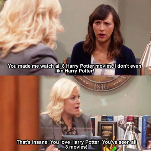 hahah this is me when i talk about Harry Potter! Of course you love it!