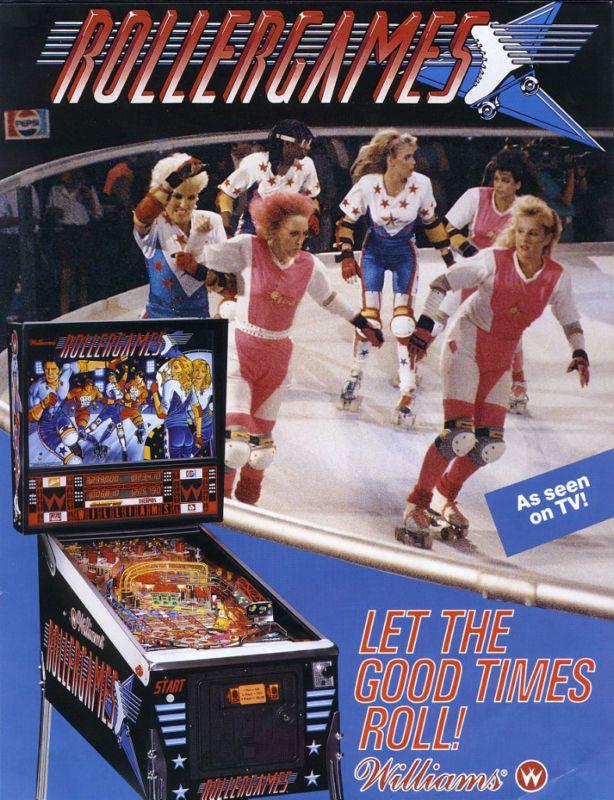 Williams ROLLERGAMES Original 1990 NOS Pinball Machine Sales Flyer Roller Games  | eBay