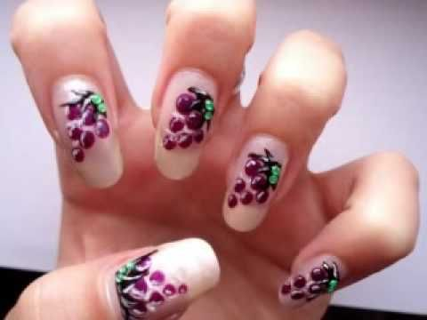 The 25 best fruit nail designs ideas on pinterest fruit nail these are my favorite nails i love all the fruit designs and i choose to do some grapes today nail polishes used are loreal resistshine base coat prinsesfo Images