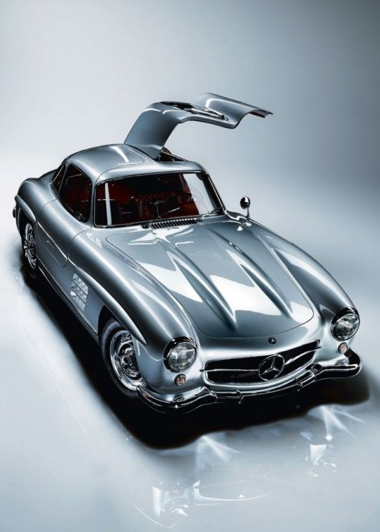 Another German design classic: The Mercedes-Benz 300 SL Gullwing from the 1950s.