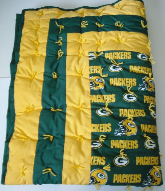 NFL Green Bay Packers Baby Quilt Ready to Ship-- so getting this for A & S when they have their baby!