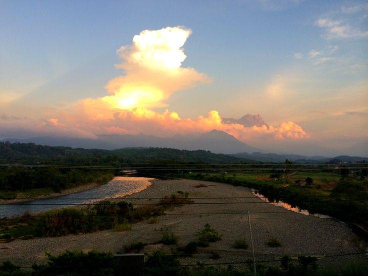 The view of mount kinabalu from kota belud,Sabah,Malaysia
