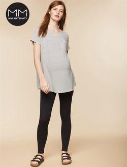 faeb6293bda MiMi Fold Over Belly Maternity Leggings, Black | Maternity clothes ...
