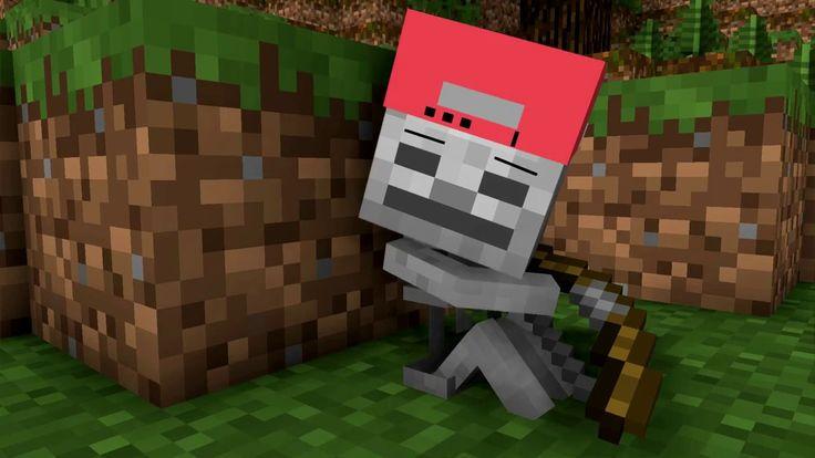 Майнкрафт видео мультик Skeleton Life Minecraft Animation без мата