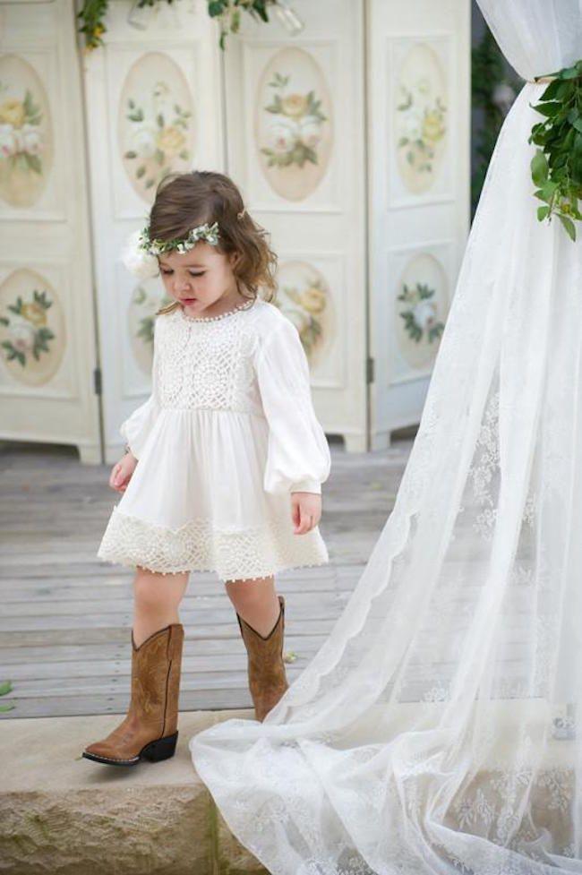 Vestidos blancos para niña de Tea Princess