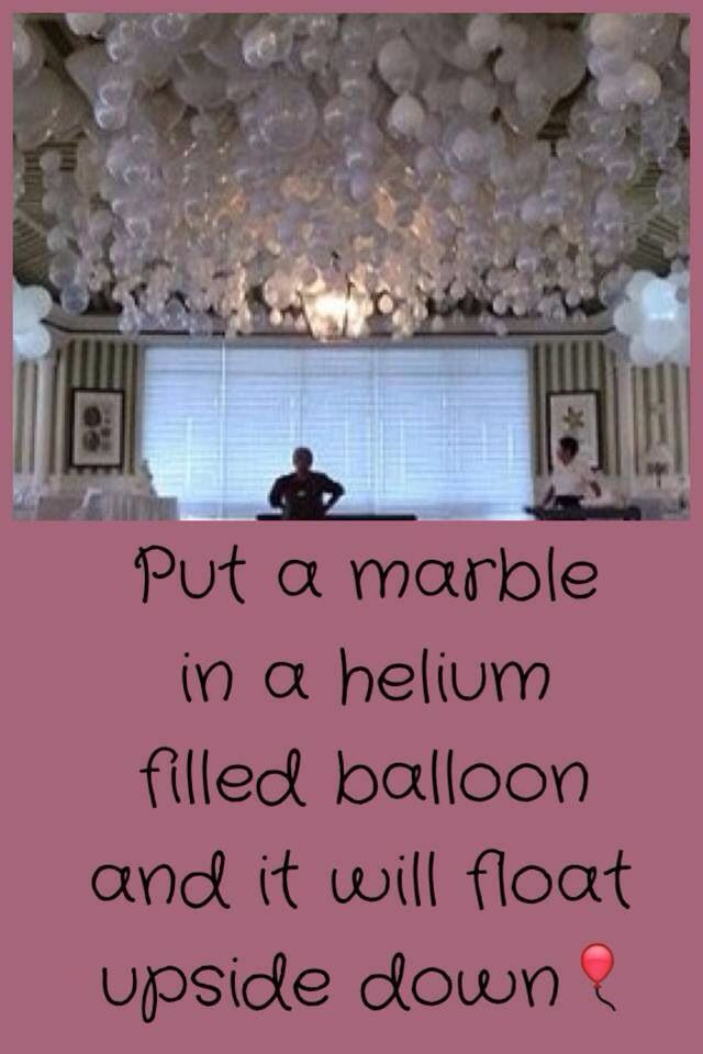 Decoration Idea Upside Down Balloons