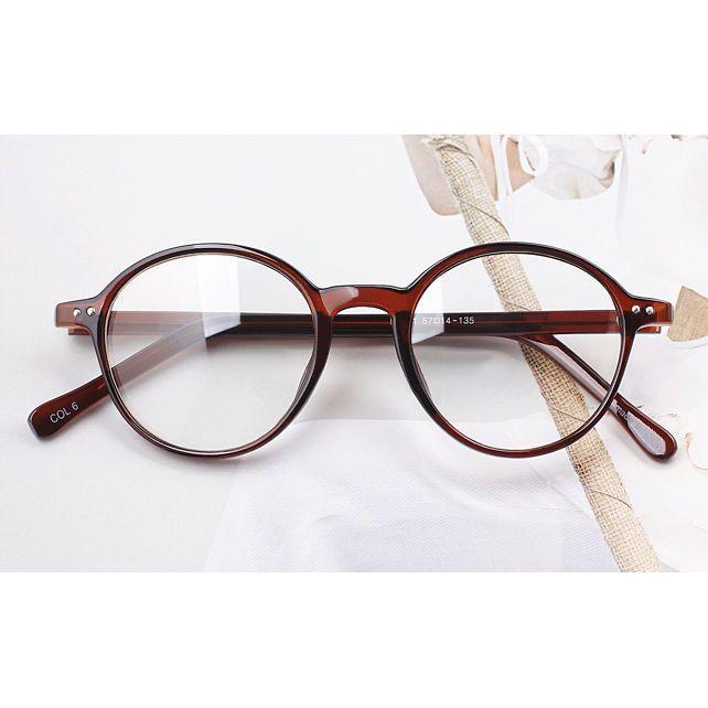 Details zu Nerd Brille filigran rund Glasses Klarglas Hornbrille treber 19R0 Tiger Skin