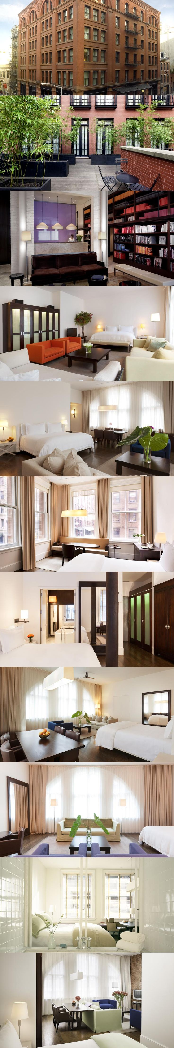 The Mercer Hotel in New York. Located in Soho, this luxury hotel is a 5-minute walk from Washington Square Park and Little Italy. It features 24-hour concierge service and loft-style rooms. Select your room: http://www.booking.com/hotel/us/the-mercer.en-us.html?aid=936696