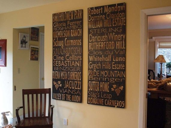 July sale winery board napa valley or sonoma valley or Wood valley designs