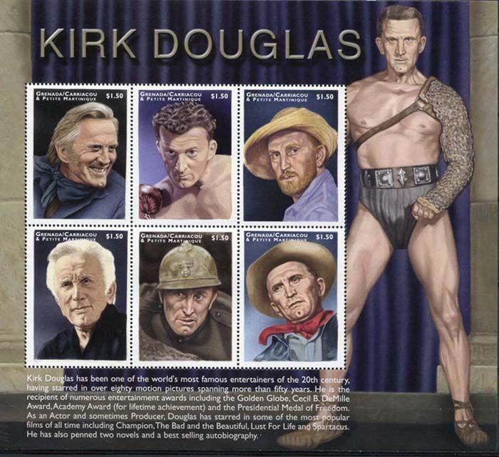 листа серии «Кирк Дуглас» (Kirk Douglas), который выпущен в 1999 году Почтовой службой островов Кариока и Малая Мартиника