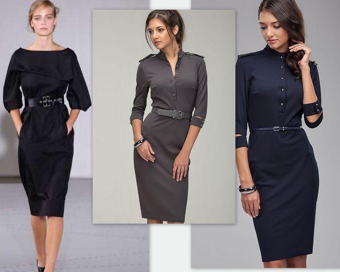 Модели офисных платьев 2017