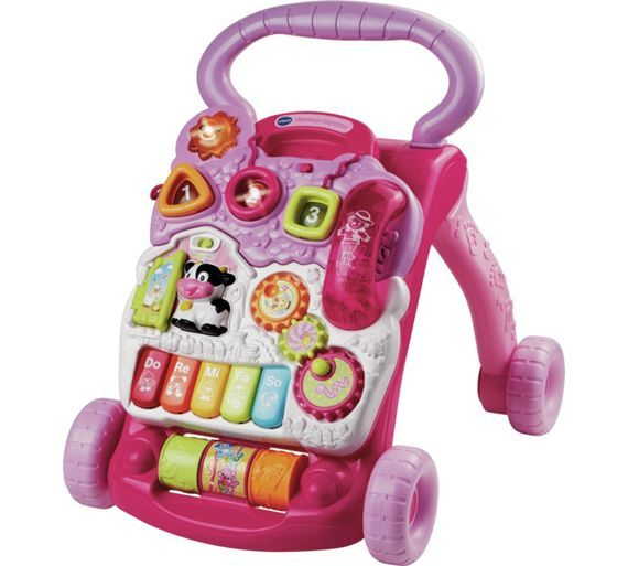 Buy VTech First Steps Baby Walker - Pink at Argos.co.uk - Your Online Shop for Baby walkers, Baby walkers, ride-ons and trikes, Baby toys, Baby and nursery.