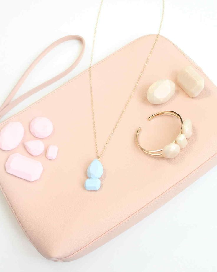 DIY clay gemstone accessories