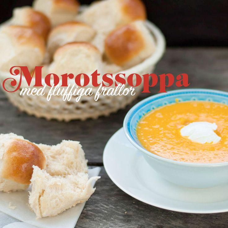 En kall morotssoppa med apelsin och riven ingefära är en riktig succé på middagsbordet!