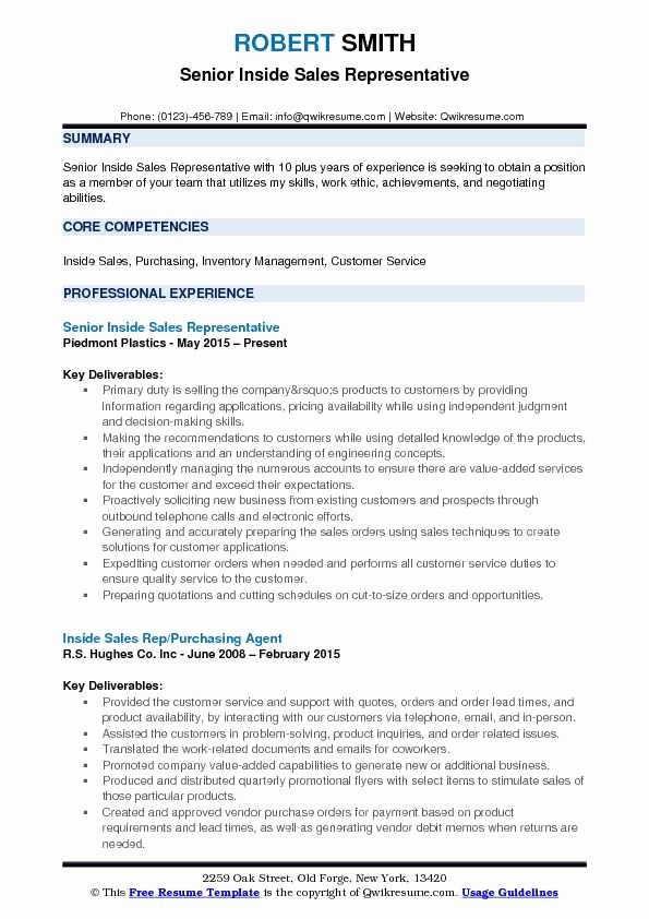 Fresh Inside Sales Rep Resume Samples Sales Resume Examples Job Resume Samples Resume