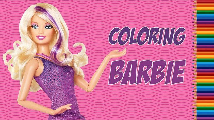 Fun Colouring Barbie : Barbie In Her Beautiful Purple Dress