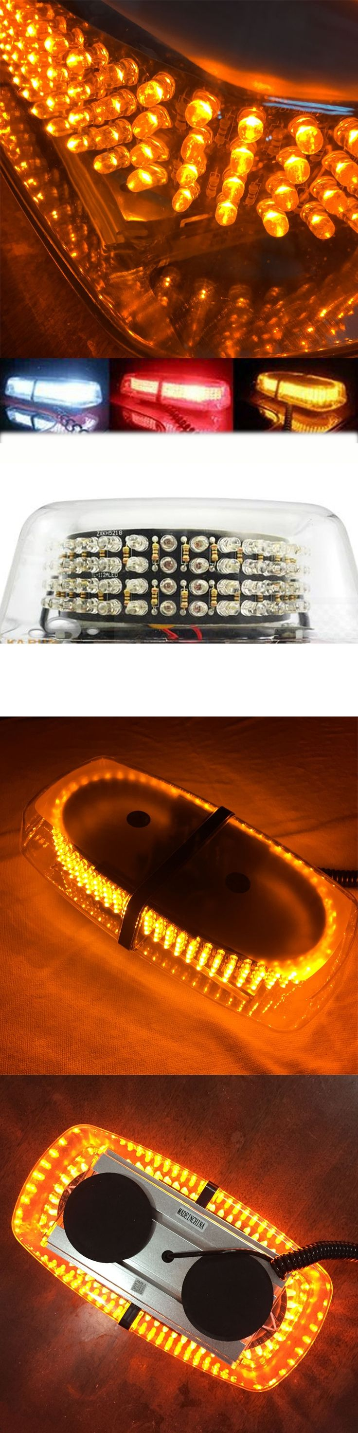 7 Modes LED Strobe Lights Car Emergency Warning Flashing Mini Bar 240 LEDs Car Truck Roof Hazard Light Signal Lamp DC 12V