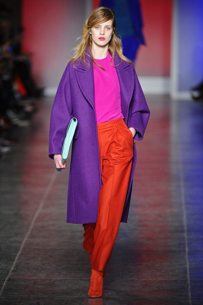 Look 1 Paul Smith Fall 2013 #LFW #color