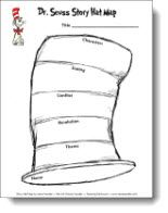Cat in the Hat Story Map pattern from Laura Candler's Teaching Resources,