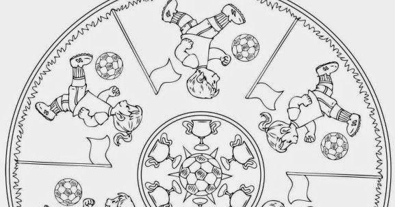 Vorlage Fur Ein Fussball Mandala Die Fussball Wm Naht Mit Grossen Schritten Und Ich Bin Gerade Dabei Etwas Material Fur Ein Grundschule Fussball Wm Ausmalbilder