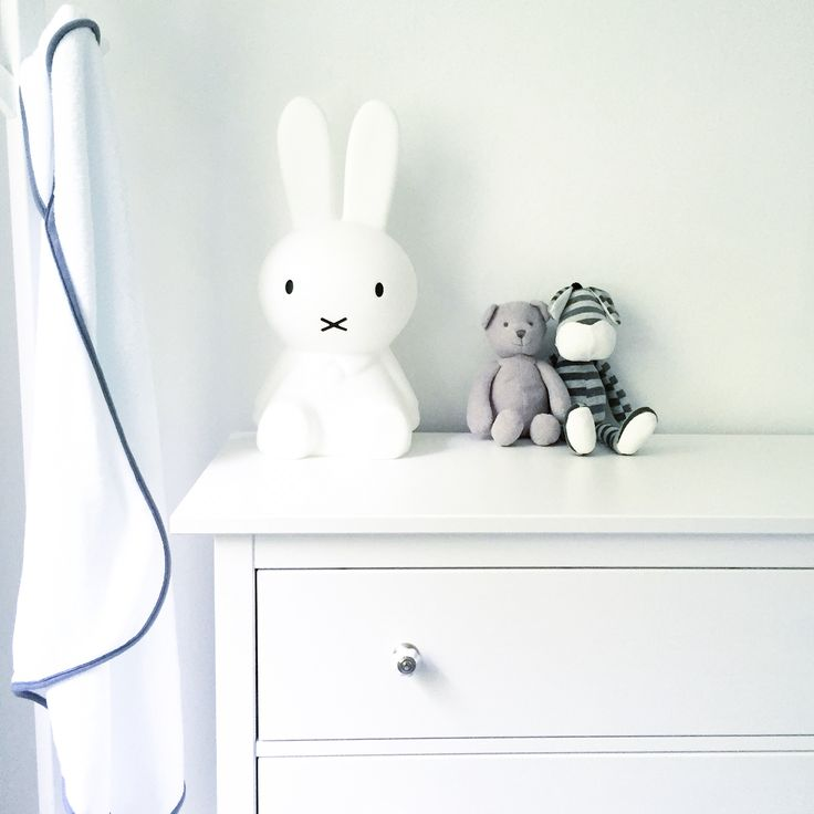 Miffy lamp in white nursery