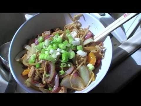 Stir fry with Actifry! Stir fried veggies with noodle.