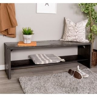 Shop For 58 Inch Solid Rustic Reclaimed Wood Entry Bench Get Free