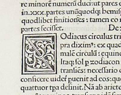 Reversed Z – woodcut initial (1485)