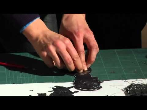 Quick Art - How to make a shadow puppet. Good notes on joints and attaching sticks for movement.
