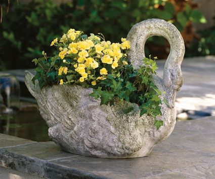 2461 Swan Planter Grande Product Detail Back Yard Pinterest Home Planters And Products