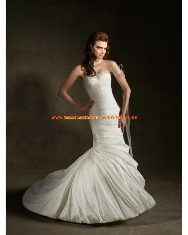 Brautkleid im Meerjungfrauenstil sexy aus Satin mit Kristall online 2013