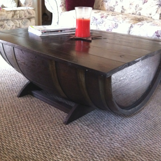 Whiskey Barrel Coffee Table For The Home Pinterest