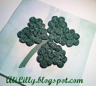 rosette shamrock: Crafts Ideas, Cupcakes Ideas, Diy Crafts, St. Patrick'S Day, Paper Flowers, Fabrics Rose, Great Ideas, Paper Rosette, St Patrick'S Day
