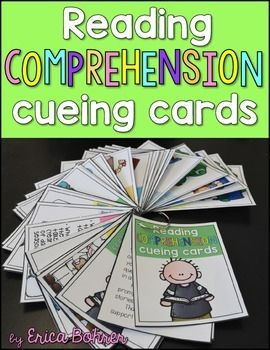 This reading comprehension cueing card packet has a multitude of uses! There are 34 comprehension cueing cards, with versions in full page and mini-sized. There are color and B&W versions for each set of cards. The mini-sized work well on a binder ring for at home reading comprehension support.