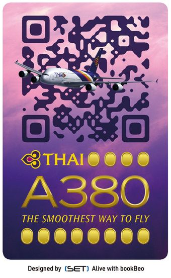 QR Code Design : ça plane pour THAI Airways !