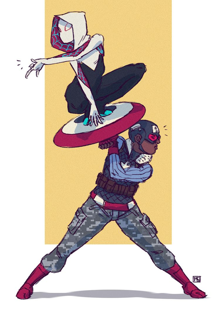 Captain America and Spider-Gwen