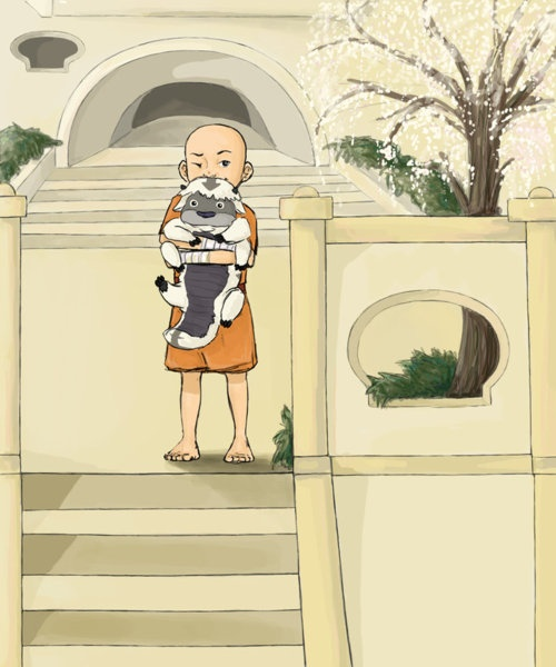 Young Aang and baby Appa | The Last Airbender | Avatar