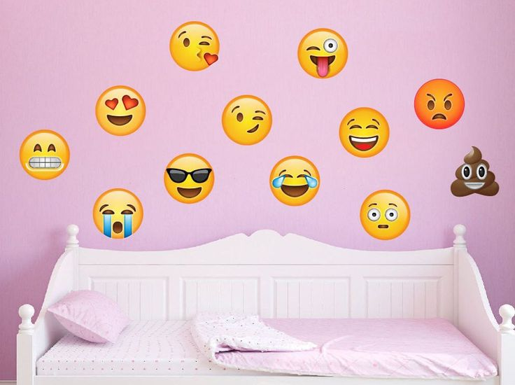 12 Large Emoji Wall Decal Peel and Stick Repositionable by onehipstickerchic on Etsy https://www.etsy.com/listing/506438975/12-large-emoji-wall-decal-peel-and-stick