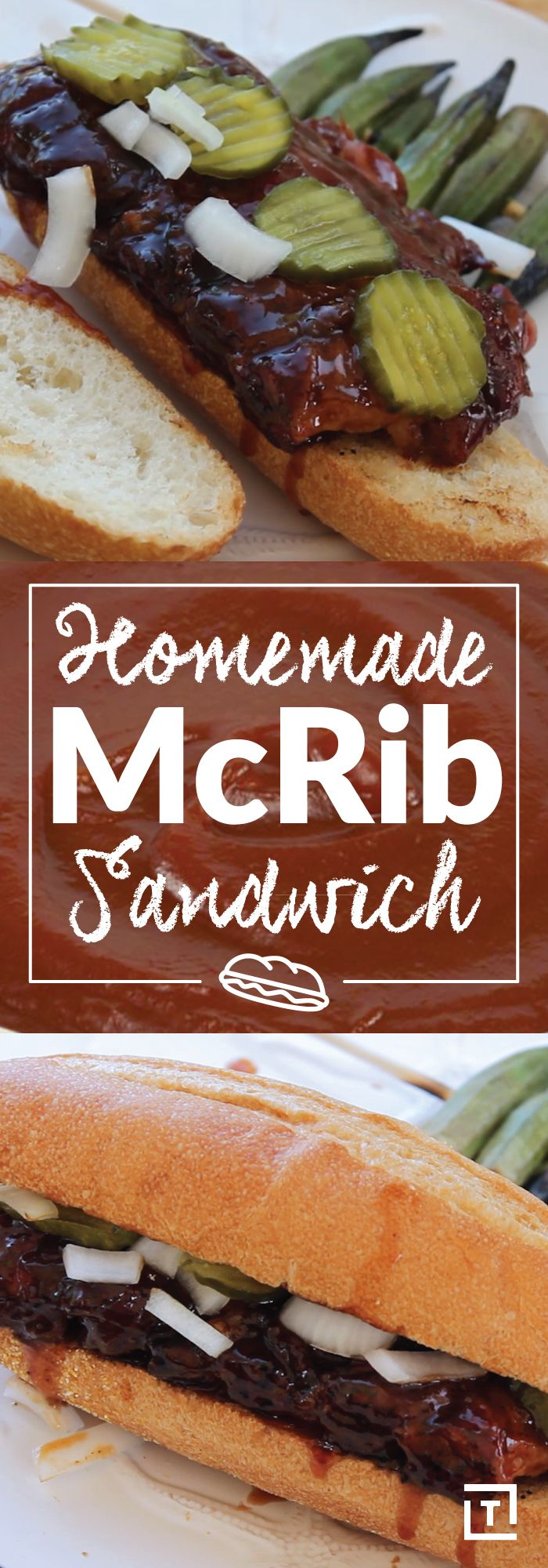 Thanks to BBQ Tricks, the McRib is here to stay! Forget waiting for the limited-time sandwich, we're making 'em at home instead. Just slather pork spare ribs with homemade BBQ sauce and BBQ rub, smoke them until they're nice and tender, and put it on a toasted french roll. Top with dill pickles and onions for a sandwich that's available for an unlimited time.