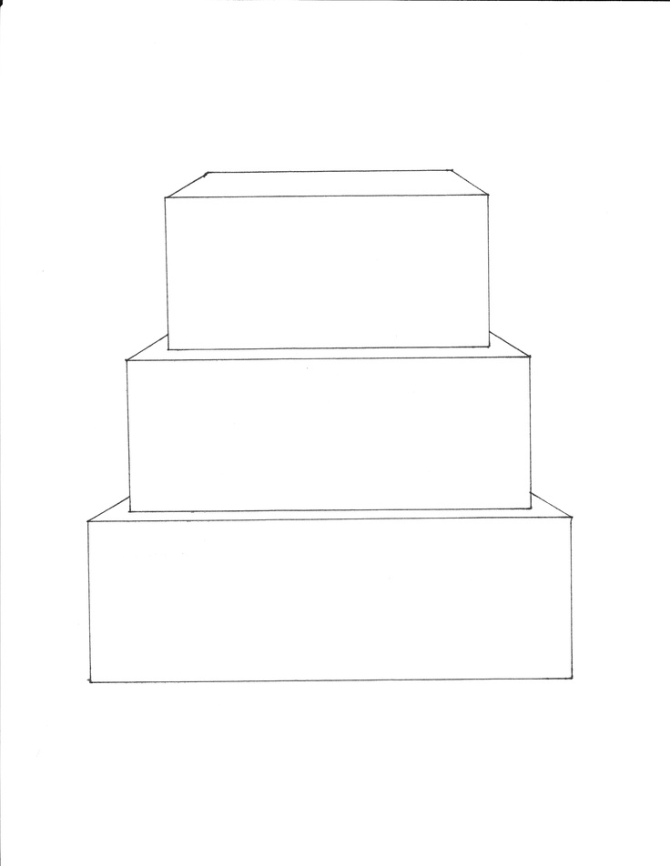 3 Tier Square Cake Template  FREE downloadable cake templates at  www.facebook.com/kristyscakecorner  under cake templates tab