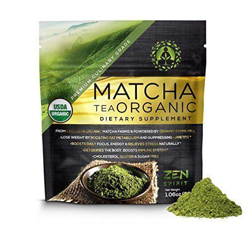 Our Choice! Matcha Green Tea Powder Organic ( Japanese Premium Culinary Grade ) - USDA & Vegan Certified - 30g (1.06 oz) - Perfect for Baking, Smoothies, Latte, Iced Tea, Herbal Teas. Gluten & Sugar Free