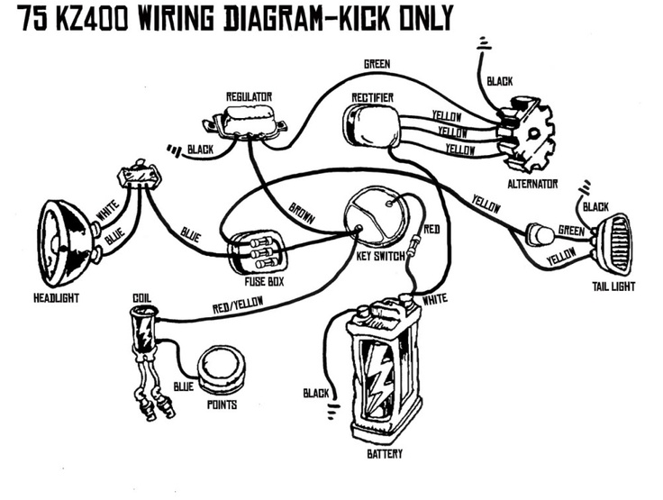 simple wiring diagram light switch kz400 simple wiring diagram kz400 kick only wiring diagram. | chops / scoots / bobs ...