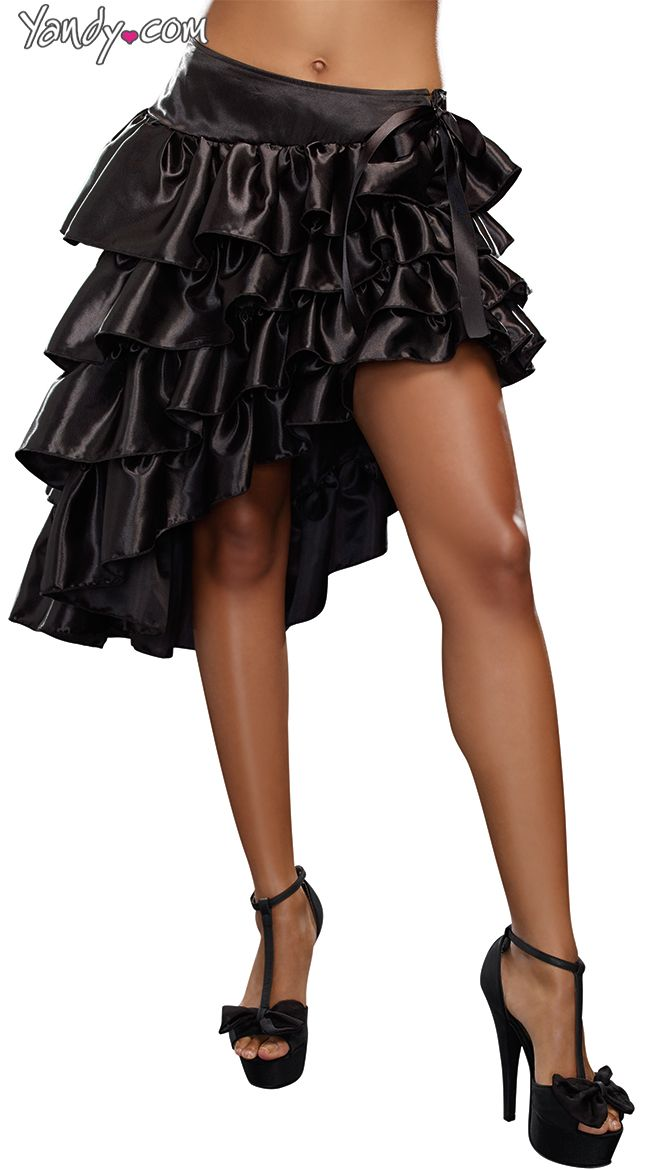 17 best moulin rouge party images on pinterest costume ideas ruffled bustle skirt with thigh high slit solutioingenieria Images