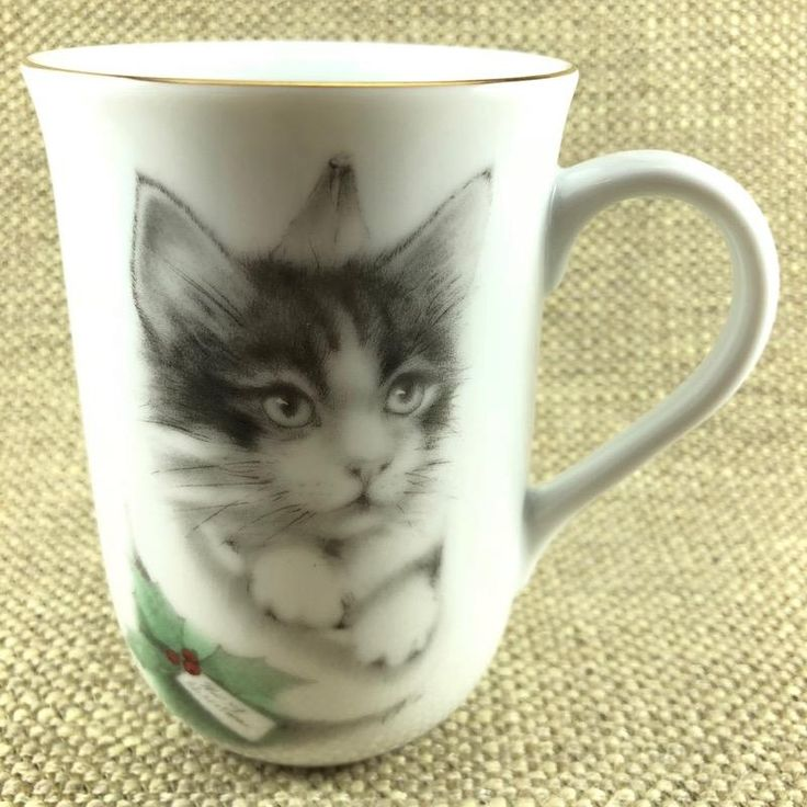 Merry Christmas Kitten In A Stocking With Holly Jonah's Workshop Mug Otagiri