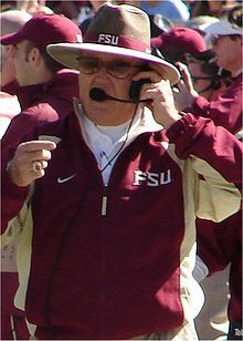 "Robert Clecker ""Bobby"" Bowden, born November 8, 1929  in Birmingham, Alabama, is a ""retired college football coach who holds the NCAA record for most career wins and bowl wins by a Division I FBS coach.  He coached the Florida State Seminoles football team from the 1976 to 2009 seasons."""