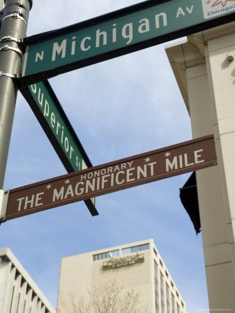"""The Magnificent Mile"" was coined in the 1940s. This shopping mecca is a prestigious section of Michigan Avenue, running from the Chicago River to Oak Street."