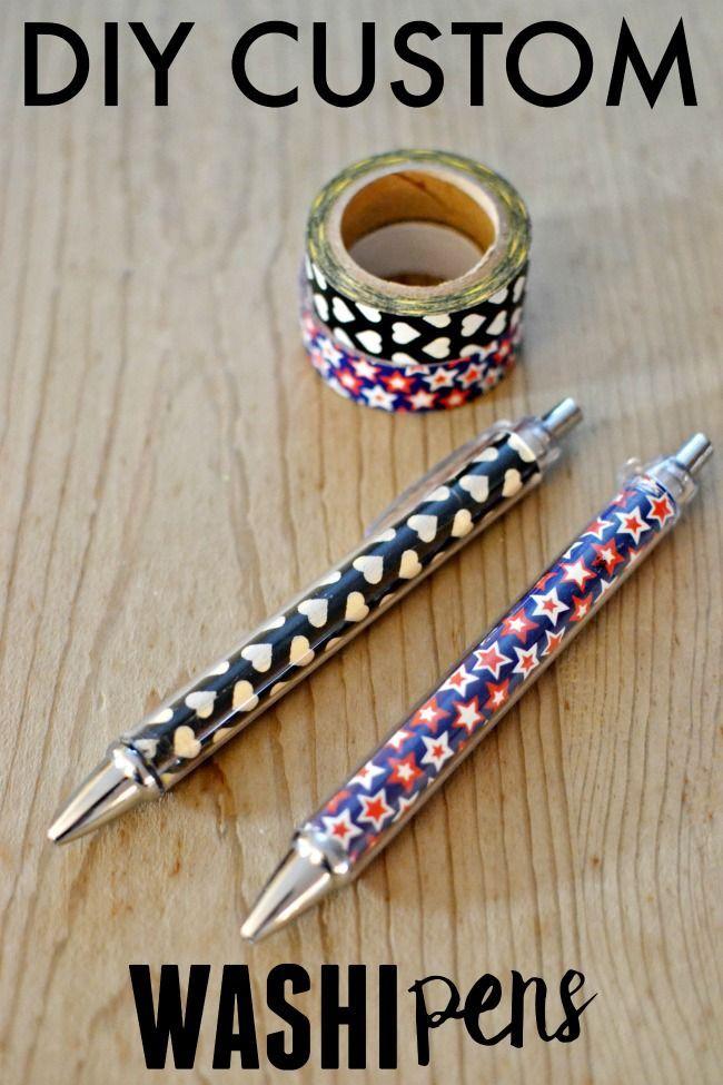 DIY Custom Washi Pens - Great Gift Idea - This Girl's Life ...