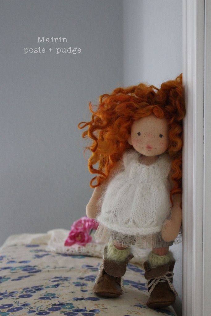 "Mairin - a 10"" Posie and Pudge natural fiber art doll :: Dollectable In-stock Store"